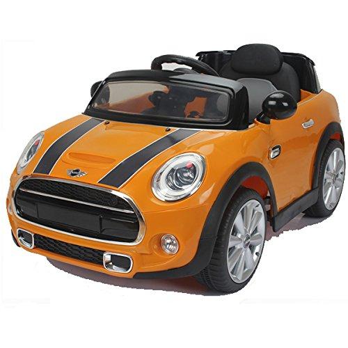 SIMRON-MINI Cooper Cabriolet Elektro Kinderauto Kinderfahrzeug Ride-On 12V Kinder Elektroauto -gelb-