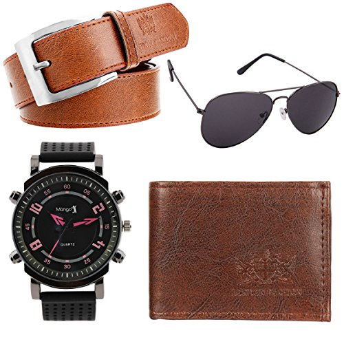 HOB EPICINK WITH DEVICE Giftset Combo Belt, Wallet, Sunglass, Watch For Men & Boy's