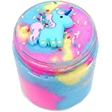 Unicorn Fairy Putty Cloud Slime, Cotton Candy Slime Supplies Stress Relief Toy Scented Sludge Toy for Girls and Boys