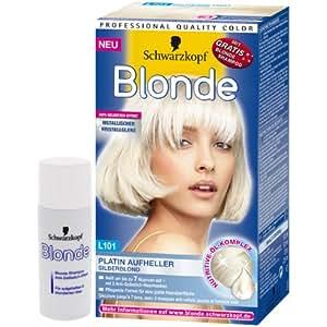 Schwarzkopf Blond Blond platine de blanchiment d'argent L101 / Nutrive huile complexe + gratuit Shampooing Blonde
