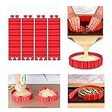 Set di stampi, Torta forme, Cake Mould, Magic Bake Snake, Torta a forma di cuore rotondo fiore quadrate numeri lettere, flessibile in silicone stampo per torte fondente Muffin (pezzi)