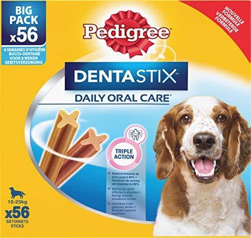 Pedigree Dentastix - Friandises pour Moyen Chien - 56 Sticks Hygiène Bucco -Denta
