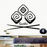 Ajcwhml Moda Sushi Pegatinas de Pared Sala de Estar Accesorios para el hogar...