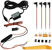 Mini USB & Micro USB Dash Cam Hardwire Kit, Car Dash Camera Charger Power Cord with 4 Fuse Tap Cable &