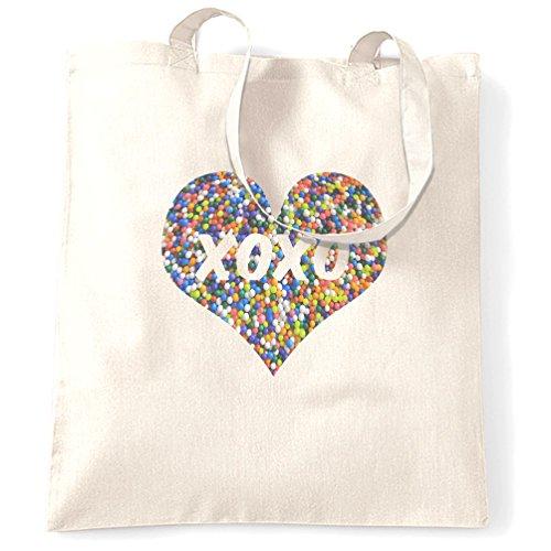 Design Qualität Neuheit Slogan Zitat Gedruckt XOXO Tragetasche White Premium Geschenk Tt6Hq4Bnwx