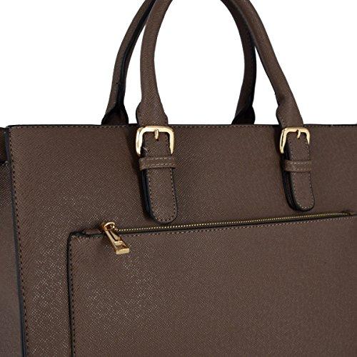 6e12b78e3a8fe ... CRAZYCHIC - Damen Schultasche Arbeitstasche Aktentasche - Frau Elegante Handtasche  Henkeltasche - Starre Kunstleder Tasche Multi ...