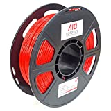 AIO Robotics AIORED PLA 3D Printer Filament, 0.5 kg Spule, Durchmesser 1.75 mm, Rot