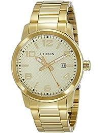 Citizen Herren-Armbanduhr Analog Quarz Edelstahl beschichtet BI1022-51P