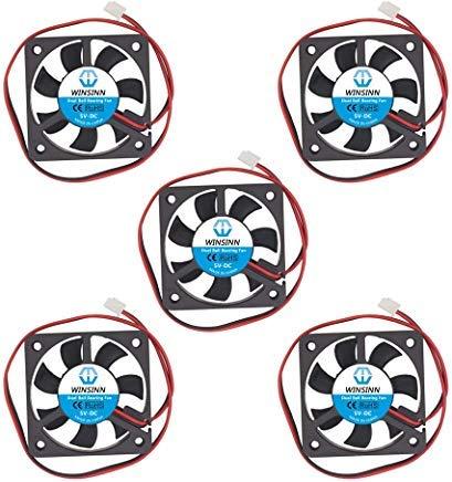 WINSINN 50 mm Lüfter 5 V 12 V 24 V Dual Kugellager DC bürstenlos leise Kühlung 5010 50 x 10 mm für 3D-Drucker PC Grafikkarte Motherboard North South Bridge 5010 5V