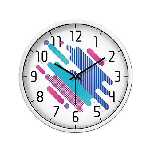 Wall Clock Family CSQ Hochauflösende Glaswanduhr, Barbershop Schlafzimmer Wanduhr (30-35CM) Umweltfreundliche Materialien Wanduhr Wanduhr und hängende Uhr (Farbe : Weiß, größe : 30 * 30CM)