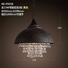 SQIAO Moderno LED luces colgantes Candelabros de cristal negro plancha bar restaurante cocina dormitorio Salón cama para niños