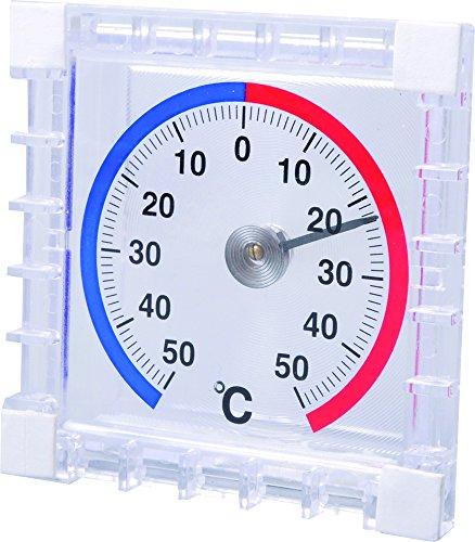 TECHNOLINE Wetterstation Fensterthermometer, weiß/schwarz, 7,5 x 2,1 x 7,5 cm, WA 1010