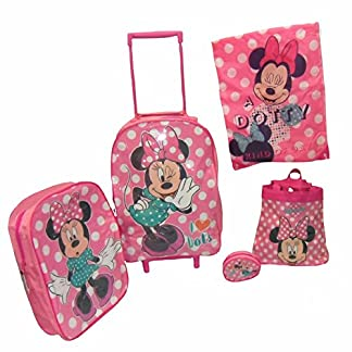 Disney Minnie Mouse 5 piezas Juego de equipaje