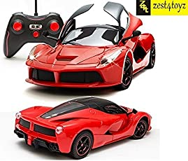 Zest 4 Toyz ABS Plastic Remote Controlled Ferrari Like Model Sports Car with Openable Doors (Red,openable door car red)