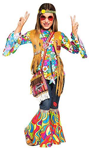 cb4bf9d5c7c6a7 Costume di Carnevale da Hippy Bimba Vestito per Bambina Ragazza 1-6 Anni  Travestimento Veneziano