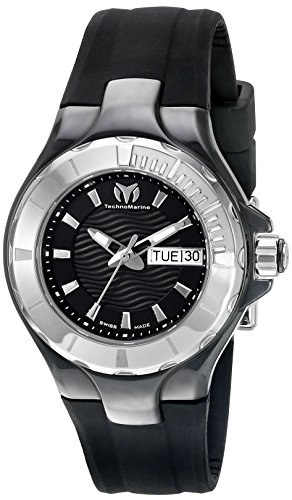 Technomarine Women's TM-110026 Cruise Ceramic Analog Display Swiss Quartz Black Watch