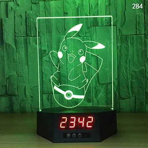 3D Illusion Lampe Nachtlicht optische Lampe Schreibtischlampe Kreative Smart-Home-Touch-Sensor-Nachtlicht-USB-Tischlampe der Induktion 3D, 284, bunt, Fernbedienung, Note - Sensor Der Basketball Smart