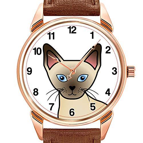 Herrenuhren Mode Quarzuhr Business wasserdicht leuchtende Uhr Männer braun Leder Uhr Choc Labrador personalisierte Uhr -