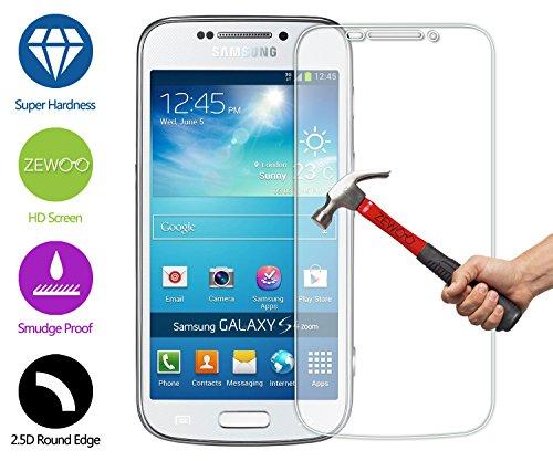 ZeWoo Display Glas Panzerfolie für Samsung Galaxy S4 Zoom Glasfolie Hartglas Schutzfolie 9H *2.5D, nur 0,33mm dünn Zoom, 2.5
