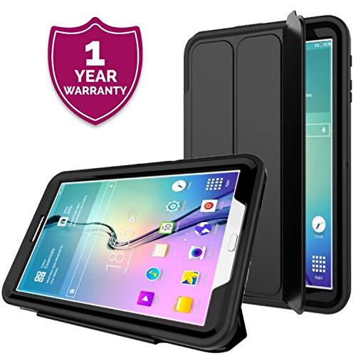 PROTECK Custodia Samsung Galaxy Tab A 10.1' - Cover con【Pellicola Protettiva Integrata】+【Antiurto】+【Auto Veglia/Sonno】- Nero