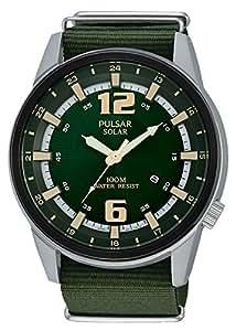 Pulsar - PX3079X1 - Montre Homme - Quartz - Analogique - Solaire - Aiguilles - Bracelet nylon Vert