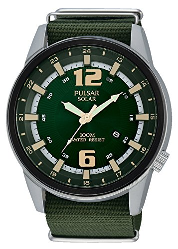 Pulsar for hombre-reloj Analogue Quartz Nylon px3079 X 1