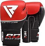 RDX Boxhandschuhe Sparring Rindsleder Training Kickboxhandschuhe Muay thai Sandsackhandschuhe, Rot, Gr. 12 oz - 2