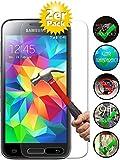 Smartphone Equipment [2er Pack] Panzerglas für Samsung Galaxy S5 Mini, Echtglas H9, Glasfolie Schutzfolie Glas Folie…