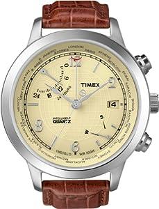 Reloj Timex Intelligent Quartz de cuarzo para hombre con correa de piel, color marrón