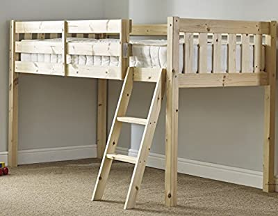 cabin bed - 3ft single wooden midi sleeper - childrens pine bed - HEAVY DUTY produced by Strictlybedsandbunks - quick delivery from UK.
