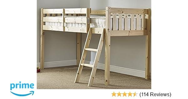 Heavy Duty 3ft Single Wooden Midi Sleeper Cabin Bed 9b7bd2dd6