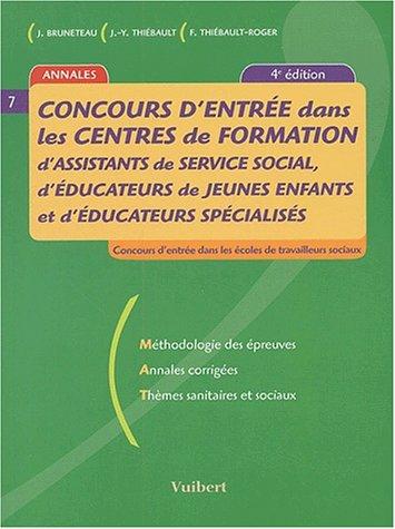 Concours d'entre dans les centres de formation d'assistants de service social, d'ducateurs de jeunes enfants et d'ducateurs spcialiss