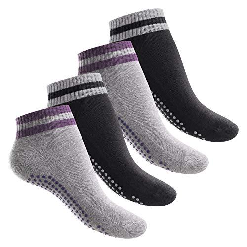 Celodoro 4 Paar Damen Herren Yoga Socken - Variante 1 35-38