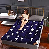 Opvouwbare matras, Japanse futonmatras, dik, zacht, voor kinderen, campingmatras, opvouwbaar, draagbaar, rol-up matras 90x200cm C