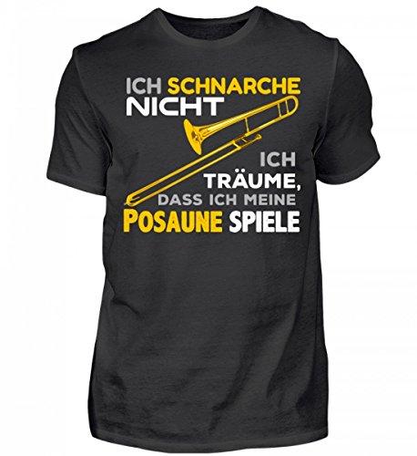 Hochwertiges Herren Organic Shirt - Posaune Shirt · Musiker · Blasmusik · Musik · Musikinstrument · Musikverein · Hobby · lustig · Spruch · Pulli · Jacke · Hoodie · T-Shirt · Geschenk (Hoodie Musikinstrumenten Mit)