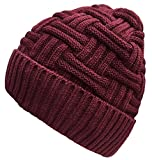 Vellette Mens Winter Warm Knitting Hats Wool Baggy - Best Reviews Guide