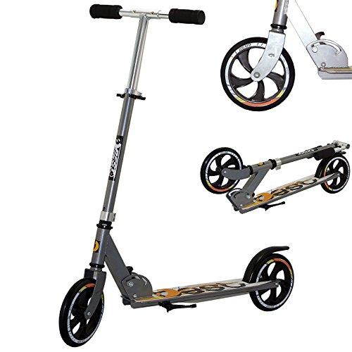 Best Sport Kinder Scooter Mit Abec-5 93-102 Cm Scooter, silber/orange, M, 2307286