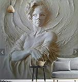 ADDFLOWER Carta da parati con impronta 3D ragazza carta da parati murale Hd foto stampata murales per camera da letto Figura parete carta rotolo rivestimenti murali, 400X280 Cm (157,5 da 110,2 in)