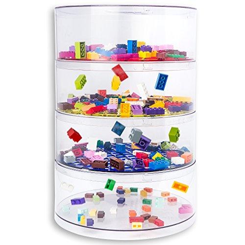 BLOKPOD giocattolo e Lego Storage Bin Organizer & # x2022; multiuso soluzione di archiviazione impilabile (Bambini Bin Organizer)