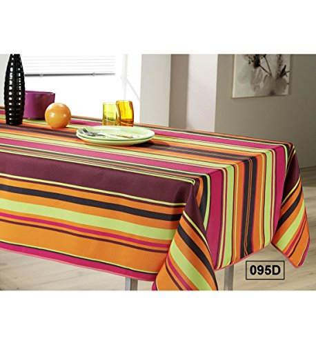 MULTICOLOR - Nappe anti-taches - Ronde 160cm