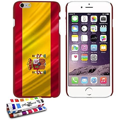 Carcasa Rigida Ultra-Slim APPLE IPHONE 6S PLUS de exclusivo motivo [Espana Bandera] [Roja] de MUZZANO + ESTILETE y PAÑO MUZZANO® REGALADOS - La Protección Antigolpes ULTIMA, ELEGANTE Y DURADERA para su APPLE IPHONE 6S PLUS