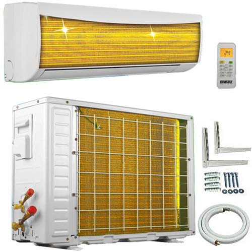 A++/A++ ECO Smart Inverter Golden-Fin 9000 BTU 2,6 kW Split Klimaanlage mit Wärmepumpe INVERTER Klimagerät und Heizung