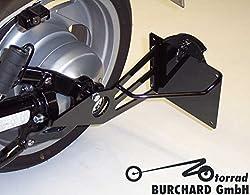 Seitlicher Kennzeichenhalter schwarz Suzuki M 800 / M 1500 / M 1800 Intruder, VL 800 Volusia / VL 1500 Intruder mit TÜV Teilegutachten