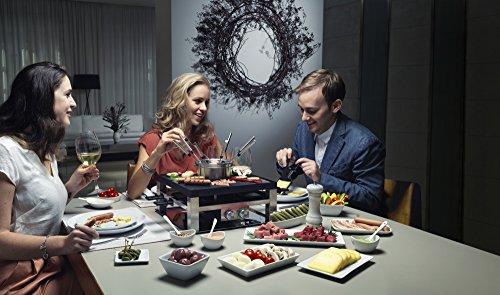 Solis Raclette, Tischgrill und/ oder Fleischfondue, 8 Personen, Edelstahl, Combi-Grill 3 in 1 Typ 796 -