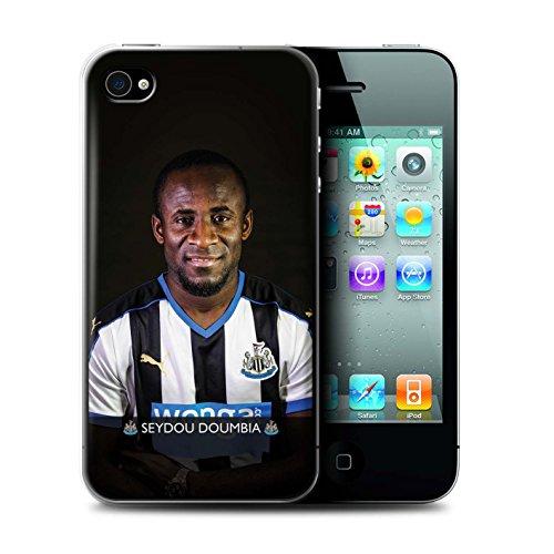 Officiel Newcastle United FC Coque / Etui pour Apple iPhone 4/4S / Pack 25pcs Design / NUFC Joueur Football 15/16 Collection Doumbia