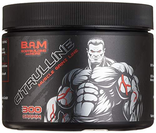 Fan Edition B.A.M. Citrulline Malate Stickstoffoxyd Booster Supplement Fitness Bodybuilding 300g… -