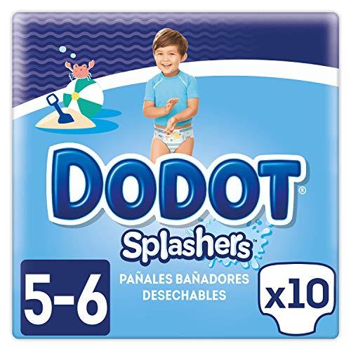 Dodot Splashers Pañales Bañadores Desechables, No se Hinchan y Fácil de Quitar, Talla 5, 14+ kg ...