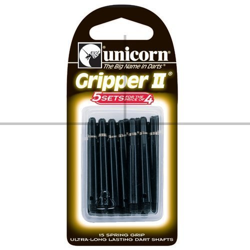 Price comparison product image Darts Shafts, Gripper 2, Nylon, Black, Medium, Multipack