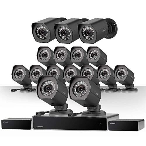 Zmodo 32 Kanal NVR Sicherheitssystem 16* HD IP Überwachungskamera mit sPoE-Repeater, 2TB HDD Zmodo Dvr
