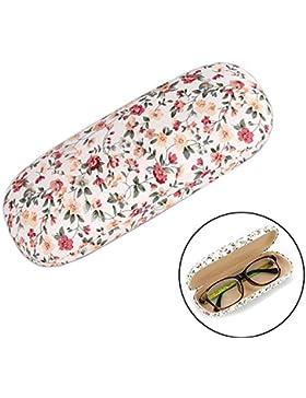 JUNGEN Los vidrios de la manera encajonan las gafas de sol lindas del patrón caja anti-extrusión (Blanco)